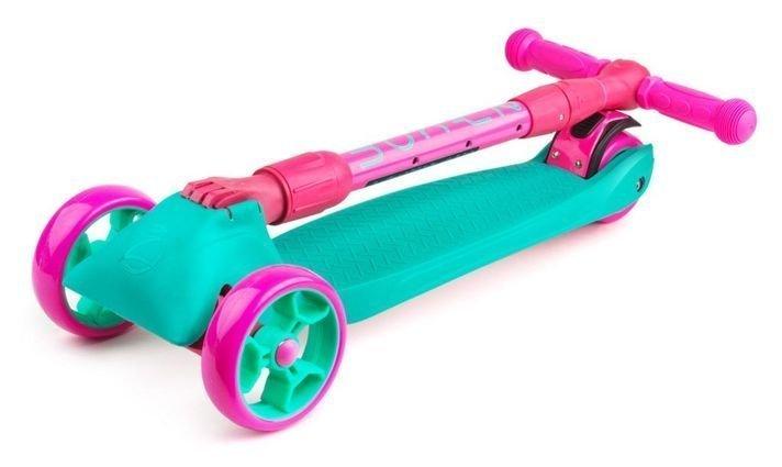 Samokat Zycom Zinger Maxi XL Torquoise Pink Folded