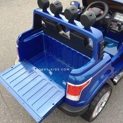 Электромобиль Range Rover XMX601 4WD 2-х местный, синий (лекосъемный усиленный АКБ, колеса резина, сиденье кожа, пульт, музыка)
