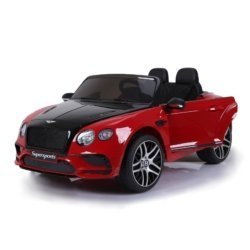 Электромобиль BENTLEY CONTINENTAL SUPERSPORTS JE1155 красно-черный (колеса резина, кресло кожа, пульт, музыка)